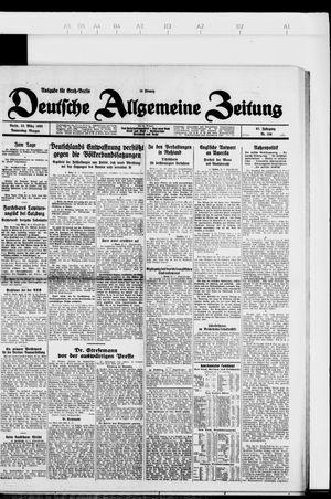 Deutsche allgemeine Zeitung vom 22.03.1928