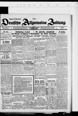 Deutsche allgemeine Zeitung vom 25.03.1928