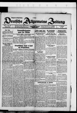 Deutsche allgemeine Zeitung on Apr 10, 1928