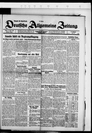 Deutsche allgemeine Zeitung vom 15.04.1928
