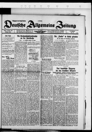 Deutsche allgemeine Zeitung vom 16.04.1928