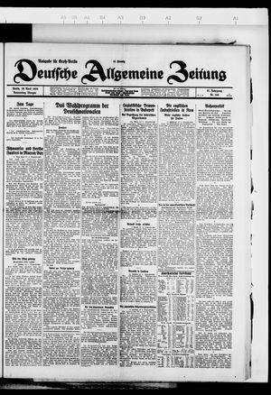 Deutsche allgemeine Zeitung vom 19.04.1928