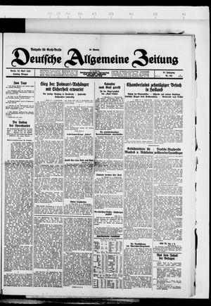 Deutsche allgemeine Zeitung vom 22.04.1928