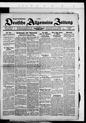 Deutsche allgemeine Zeitung vom 26.04.1928