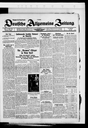 Deutsche allgemeine Zeitung vom 28.04.1928