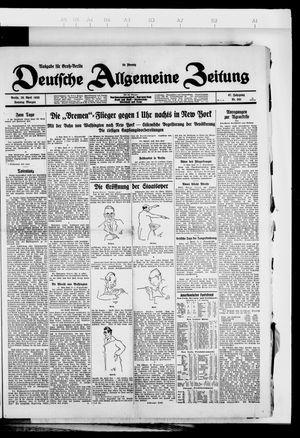 Deutsche allgemeine Zeitung vom 29.04.1928