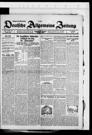 Deutsche allgemeine Zeitung vom 30.04.1928