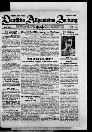 Deutsche allgemeine Zeitung vom 03.01.1930