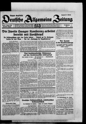 Deutsche allgemeine Zeitung vom 04.01.1930