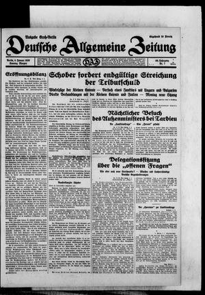 Deutsche allgemeine Zeitung vom 05.01.1930