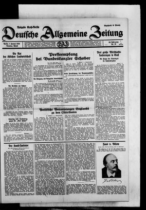 Deutsche allgemeine Zeitung vom 07.01.1930