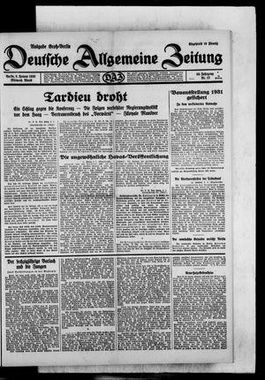 Deutsche allgemeine Zeitung vom 08.01.1930
