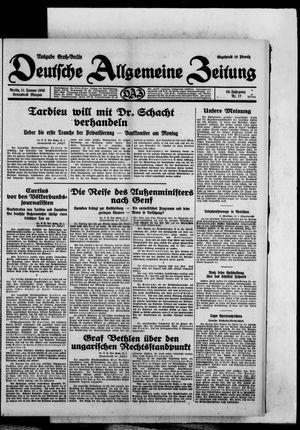 Deutsche allgemeine Zeitung vom 11.01.1930