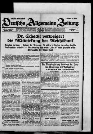 Deutsche allgemeine Zeitung vom 14.01.1930