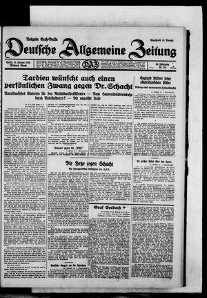 Deutsche allgemeine Zeitung vom 15.01.1930