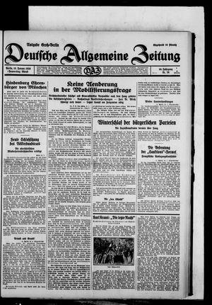 Deutsche allgemeine Zeitung vom 16.01.1930
