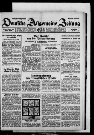 Deutsche allgemeine Zeitung on Jan 17, 1930