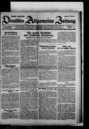 Deutsche allgemeine Zeitung vom 18.01.1930