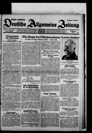 Deutsche allgemeine Zeitung on Jan 19, 1930