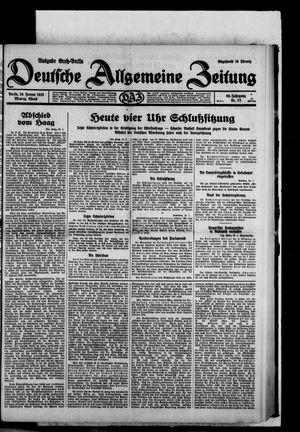 Deutsche allgemeine Zeitung vom 20.01.1930