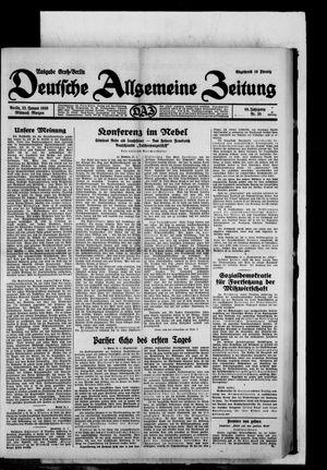 Deutsche allgemeine Zeitung vom 22.01.1930