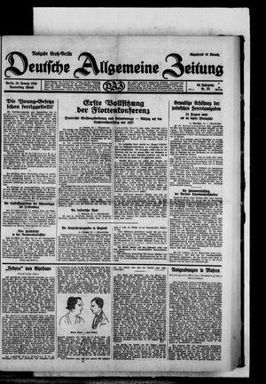 Deutsche allgemeine Zeitung vom 23.01.1930