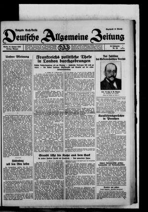 Deutsche allgemeine Zeitung vom 24.01.1930
