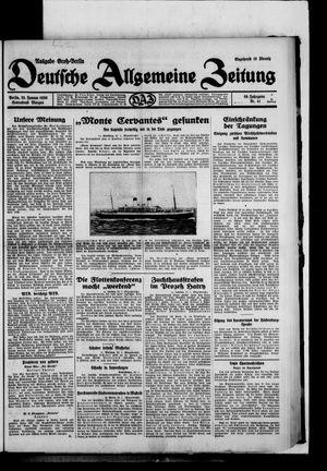 Deutsche allgemeine Zeitung vom 25.01.1930