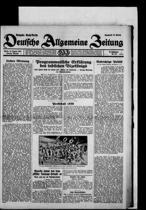 Deutsche allgemeine Zeitung vom 26.01.1930