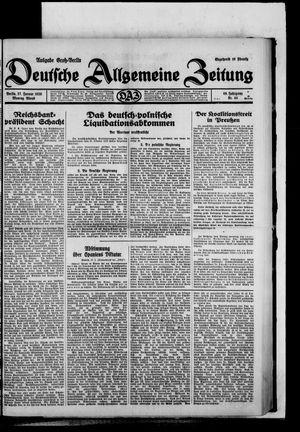 Deutsche allgemeine Zeitung vom 27.01.1930