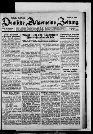 Deutsche allgemeine Zeitung vom 30.01.1930