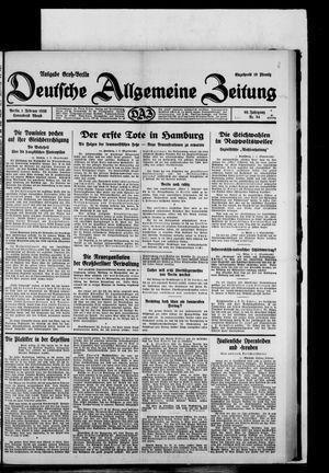 Deutsche allgemeine Zeitung vom 01.02.1930