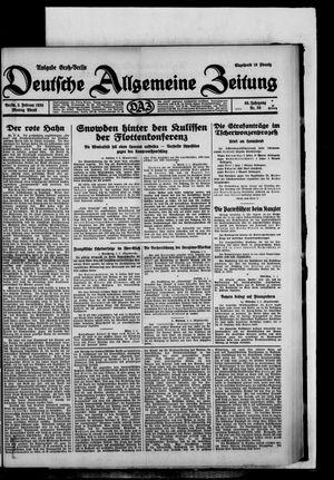 Deutsche allgemeine Zeitung vom 03.02.1930