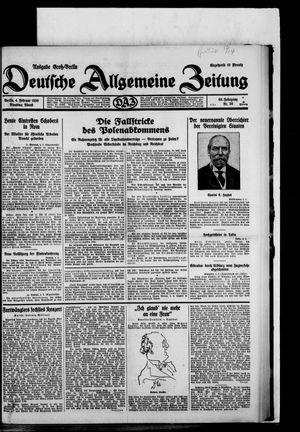 Deutsche allgemeine Zeitung vom 04.02.1930