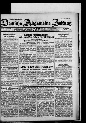 Deutsche allgemeine Zeitung vom 06.02.1930