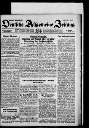 Deutsche allgemeine Zeitung vom 07.02.1930