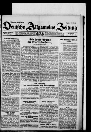 Deutsche allgemeine Zeitung vom 09.02.1930