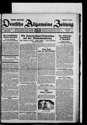 Deutsche allgemeine Zeitung vom 10.02.1930