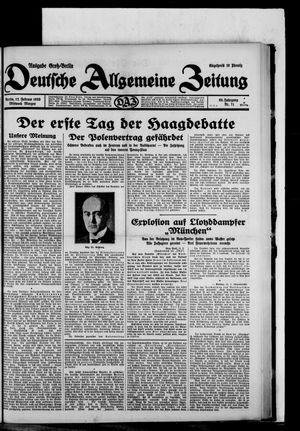 Deutsche allgemeine Zeitung vom 12.02.1930