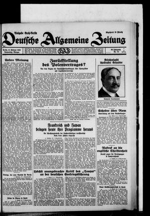 Deutsche allgemeine Zeitung vom 13.02.1930