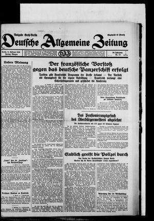 Deutsche allgemeine Zeitung vom 14.02.1930