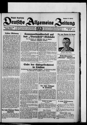 Deutsche allgemeine Zeitung on Feb 16, 1930