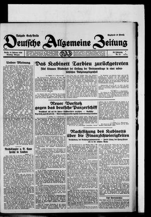 Deutsche allgemeine Zeitung vom 18.02.1930