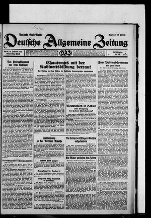 Deutsche allgemeine Zeitung vom 20.02.1930