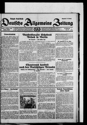 Deutsche allgemeine Zeitung vom 21.02.1930