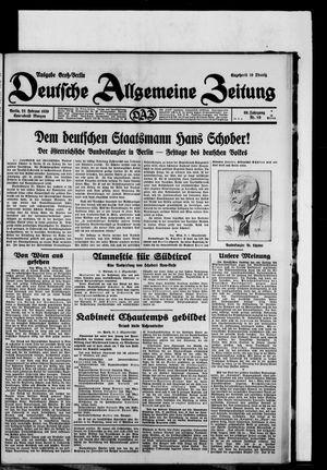 Deutsche allgemeine Zeitung vom 22.02.1930