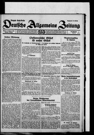 Deutsche allgemeine Zeitung vom 23.02.1930
