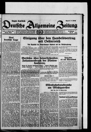 Deutsche allgemeine Zeitung vom 24.02.1930