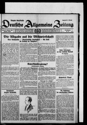 Deutsche allgemeine Zeitung vom 25.02.1930