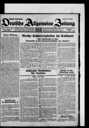 Deutsche allgemeine Zeitung vom 28.02.1930
